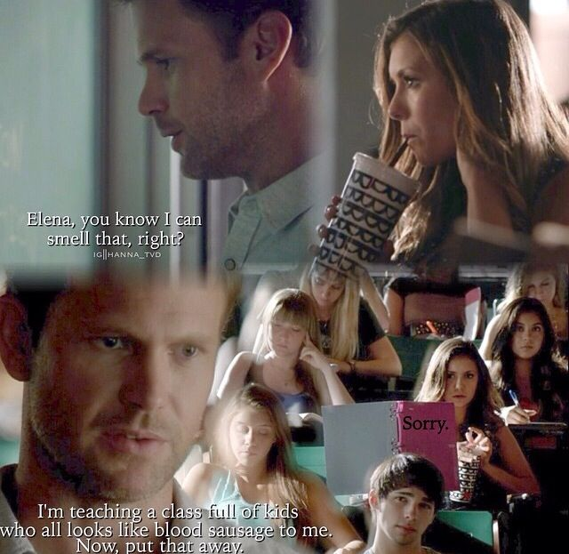 Hahaha Alaric, when Damon's not around you're the one who keeps us entertained