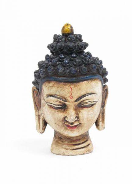 Cabeza buda cerámica, figura cabeza de budha de cerámica pintada a mano por atesanos tibetanos, altura de 5cm. http://www.aleko.kingeshop.com/Cabeza-buda-ceramica-dbaaaaina.asp