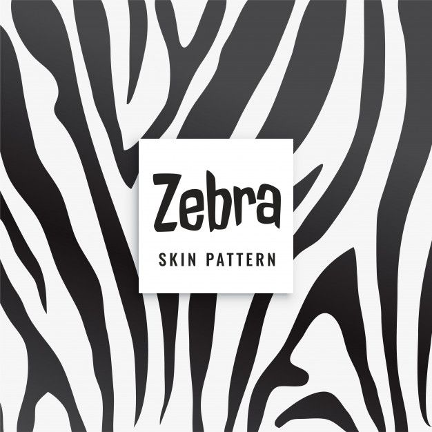 Download Zebra Print Pattern In Black And White For Free Print