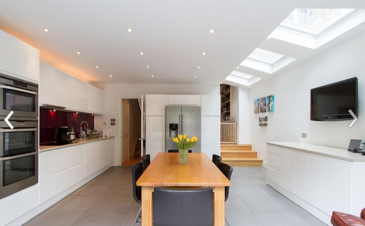 Kitchen with side return extension, island and bifold doors …