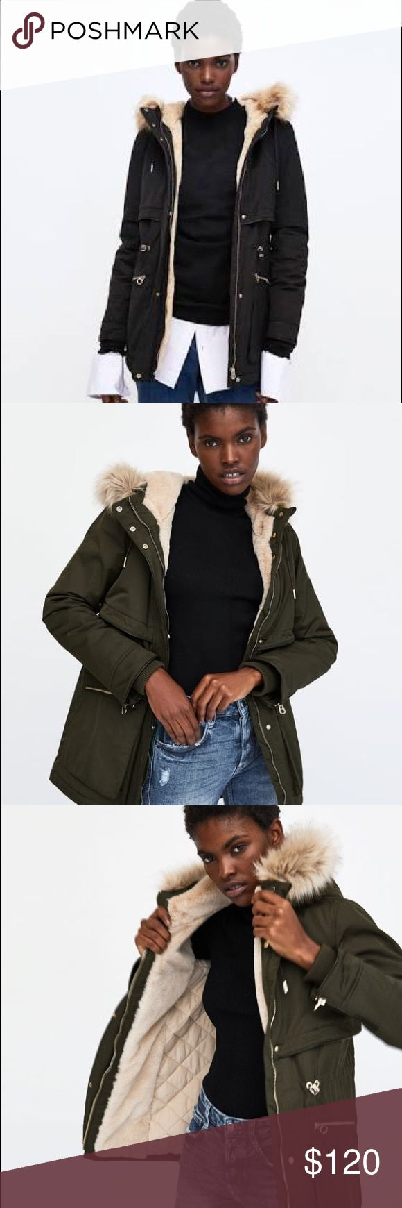 Zara coat new brand This a Zara winter coat new brand! I got some coats in different colors and I couldn't return them on time! This one is dark kaki, waterproof and very warm! Zara Jackets & Coats