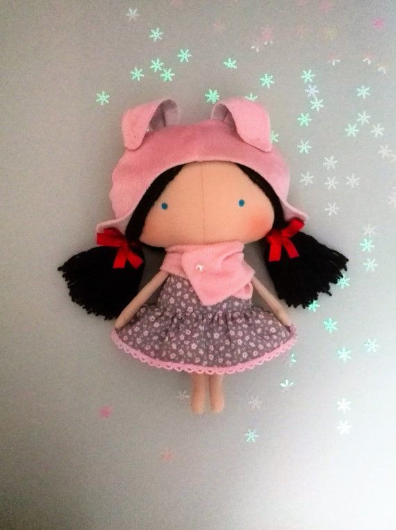 Baby-Baby gift-Dolls-Plush bunny-Handmade dolls-Baby girl gift-Fabric doll-Cloth doll