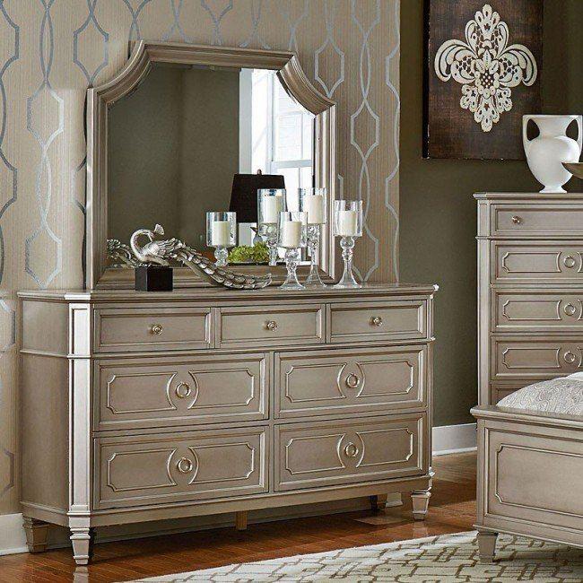 Windsor Dresser Silver Dresser With Mirror Furniture Vintage Bedroom Furniture