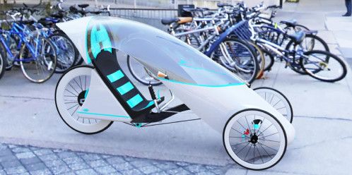 Electric recumbent trike by George Cooper