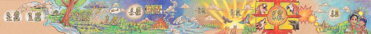 Mayan Creation Myth by SCRUBALLz.deviantart.com on @deviantART  Las historias prehispanicas siempre han sido de mi agrado, y la historia de la creación Maya no podia faltar, siendo esta una de las más destacables de la cultura de nuestros ancestros los Mayas, curiosamente contada con unos simples y adorables dibujos. Digno de verse :)