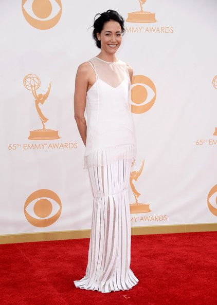 #emmyfashion Actress Sandrine Holt arrives at the 65th Annual Primetime Emmy Awards held at Nokia Theatre L.A. Live on September 22, 2013 in Los Angeles, California.