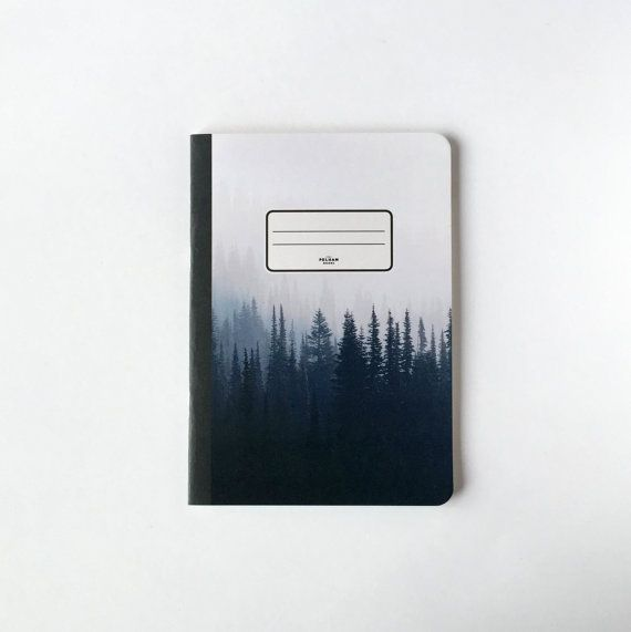 Pine Trees Notebook - Blank pages - Lined pages