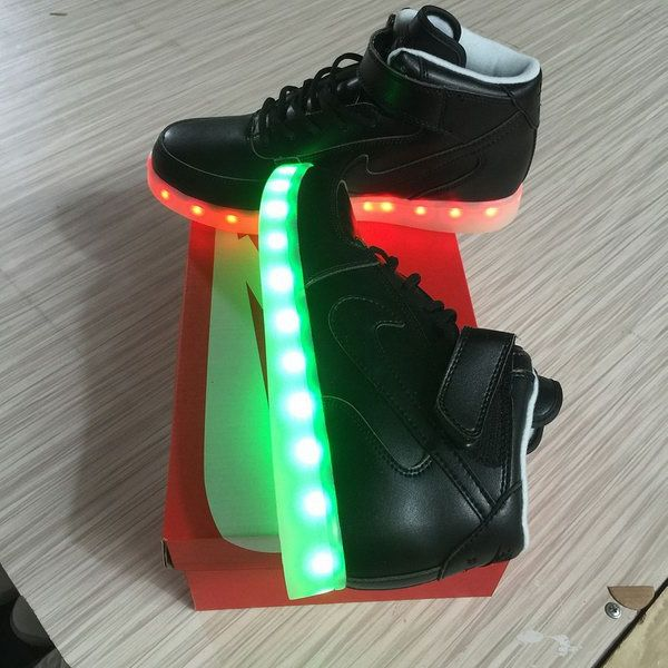 the best attitude cd12a 76620 Discover ideas about Nike Force 1. Mens Nike Air Force One High Light Up  Shoes Black Portugal