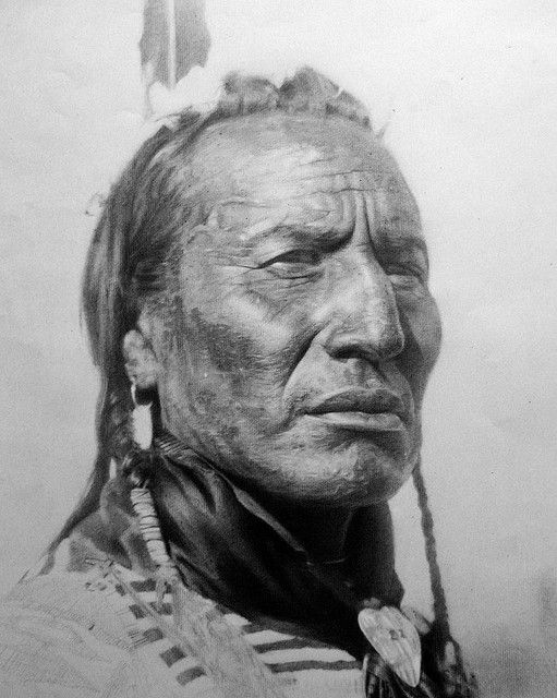 Native American Charcoal and Pencil by snowfan, via Flickr