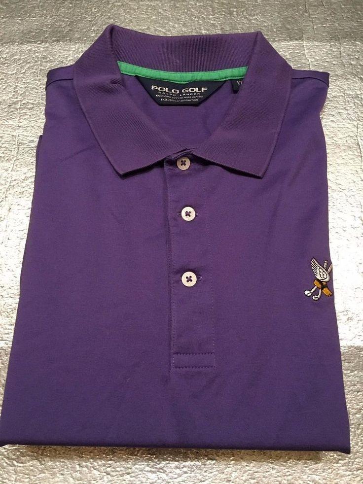 Men's POLO GOLF RALPH LAUREN Golf Shirt - Winged Clubs - Pima - Purple - Size XL #PoloGolfRalphLauren #PoloRugby