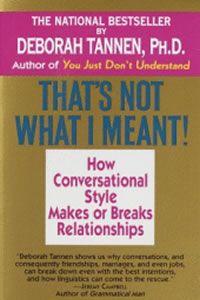 Tannen pdf     Conversation Style  Talking on the Job Deborah