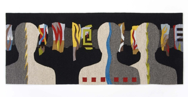 'Dream Sequence' (2007) tapestry by fiber artist Susan Iverson. Wool, silk, 32 x 6 x 7.5 in. via Snyderman-Works Gallery