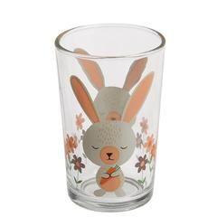 כוס זכוכית הדפס ארנב