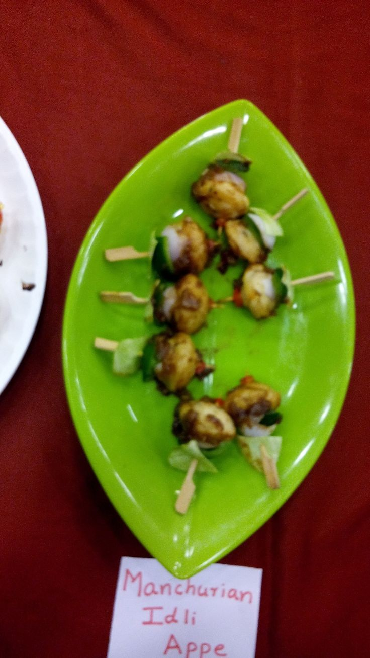 Prestige Bandhan, a multi-cuisine cookery show - held at Prestige Smart Kitchen store, Jamnagar. Manchurian Idli Appe dish prepared by Chef Kiran Madlani
