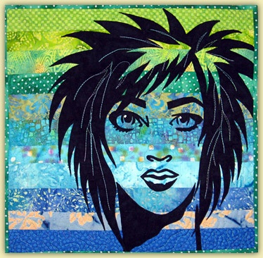 62 best Fabric Faces images on Pinterest | Madness, Quilt art and ... : face quilts - Adamdwight.com