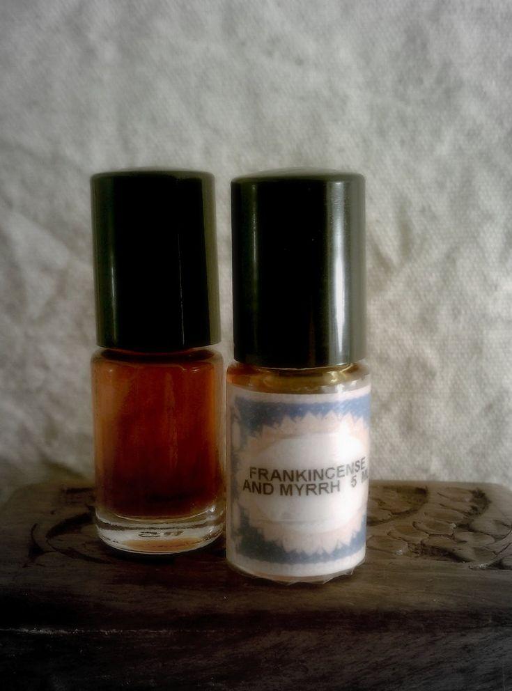 Golden Frankincense & Myrrh Botanical Perfume by ADKaromatherapy.