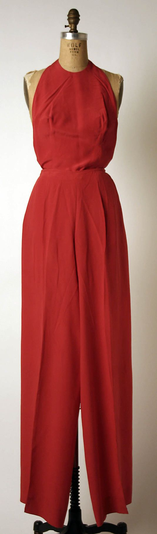 Evening ensemble - Madame Gres 1981...Love this jumpsuit.....Must see if I can recreate.