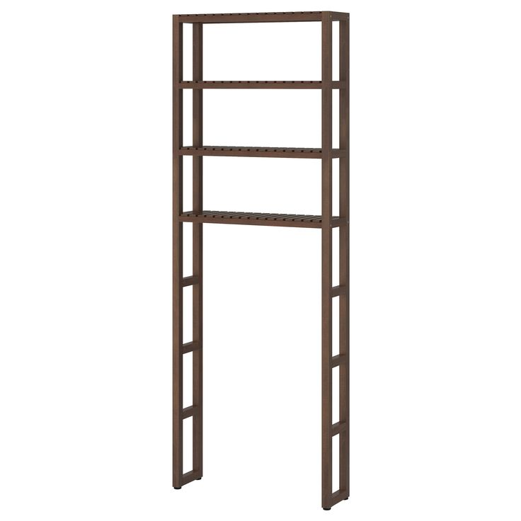 "MOLGER Open storage - dark brown - IKEA $59.99  Size: 26 3/4x7 1/8x71 5/8""  Article Number: 102.414.19"