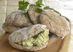 Rugbrødslommer med grøn æggesalat Lækkerier til madpakken