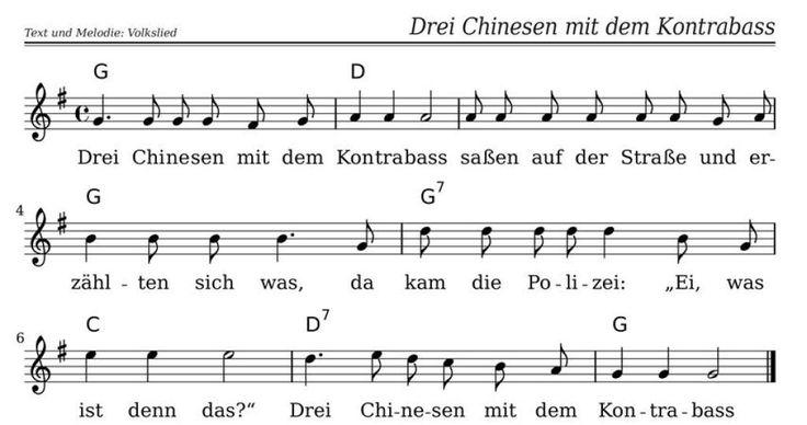 Drei Chinesen Mit Dem Kontrabass Text