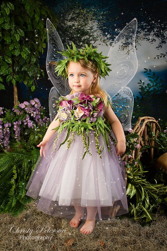 Purple Fairy Costume size 2 girl for by FairyPhotography on Etsy