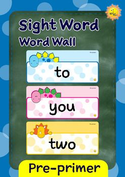 This word wall set contains:~ 40 sight word cards, based on Dolch word list. * the* to* and* I* you* it* in* said* for* up* look* is* go* we* little* down* can* see* not* one* my* me* big* come* blue* red* where* jump* away* here* help* make* yellow* two* play* run* find* three* funny~ 2 blank cards===========================================================SAVE MONEY BY PURCHASING THE GROWING…