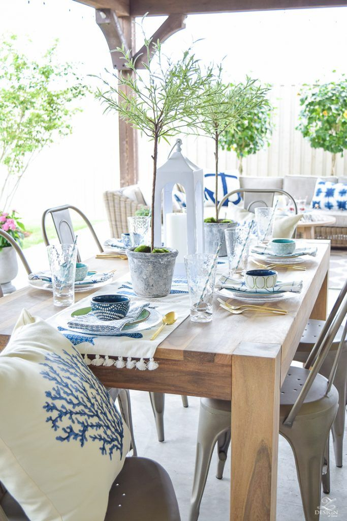 Top 25 ideas about outdoor dining tables on pinterest - Kitchen and dining area design crossword ...