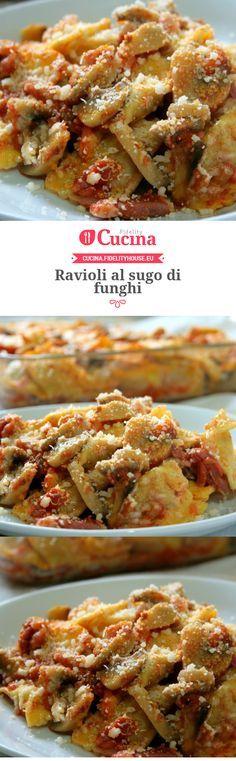 #Ravioli al sugo di #funghi della nostra utente Sanny. Unisciti alla nostra Community ed invia le tue ricette!