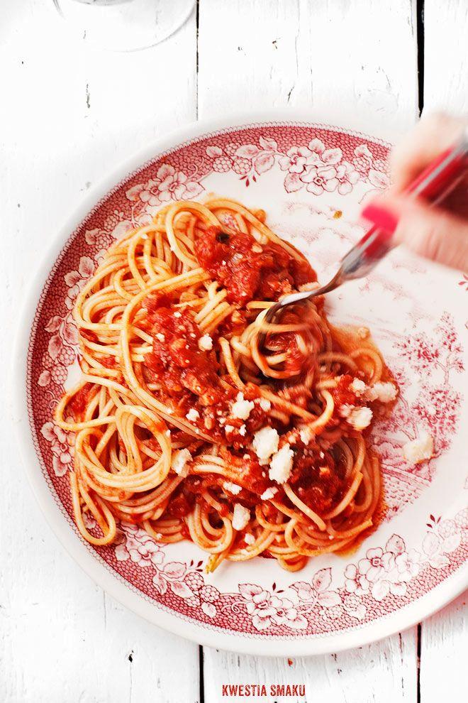 Spaghetti all'Amatriciana - Przepis