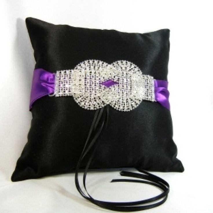 Crystal Wedding Knot Ring Bearer Pillow
