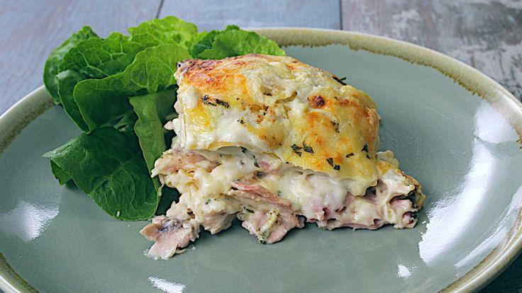 Chicken & Bacon Lasagna (Chicken Cordon Bleu Lasagna)