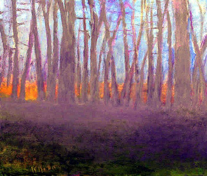 Tough Art By Wolf Kahn Zainteriora Net In 2020 Abstract Landscape Landscape Paintings Landscape Art
