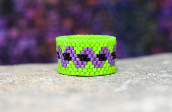 PEYOTE RING  Twisted Witch by PeyoteRings on Etsy