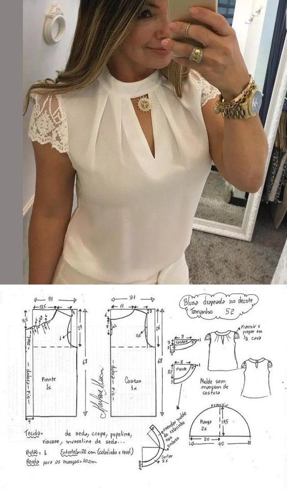 задались как сшить свободную блузку пошагово с фото это про