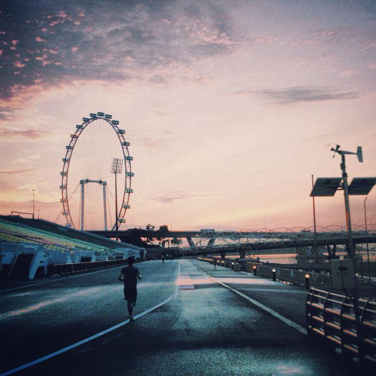 Marina bay... Running track