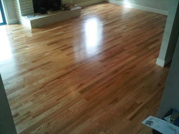 Finished Red Oak Hardwood Flooring  Red oak and Glitsa