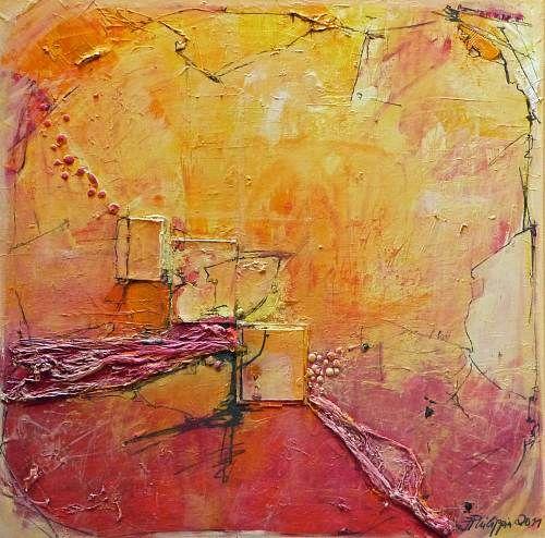 """Philippin, Inge, """"Through The Fire"""" (1) Mit einem Klick auf 'Als Kunstkarte versenden' versenden Sie kostenlos dieses Werk Ihren Freunden und Bekannten."""