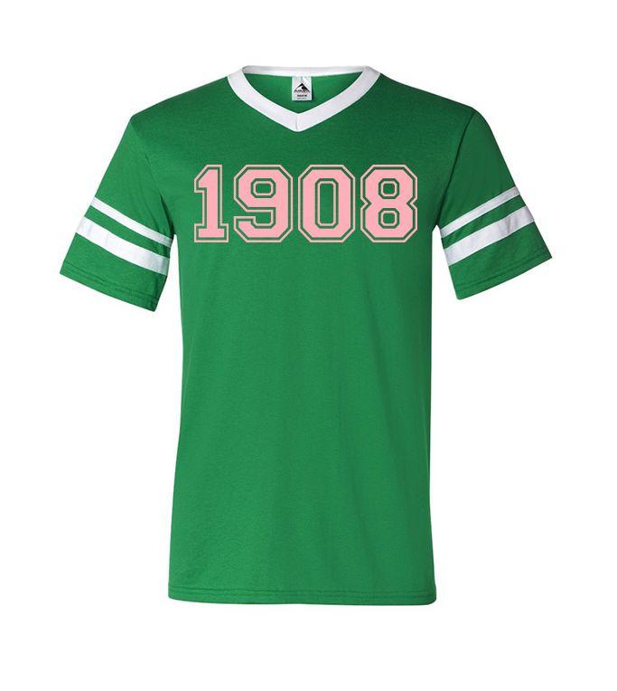 Alpha Kappa Alpha 1908 Stripe T Shirt Greek Apparel
