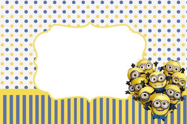 Minions: invitaciones para imprimir gratis. - Ideas gratis para fiestas y celebraciones Oh My Fiesta!