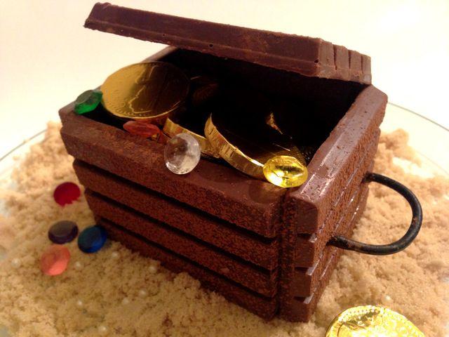 Coffre aux trésors en KitKat!