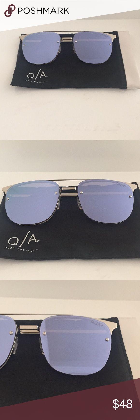 Quay Australia Private Eyes Mirrored Sunglasses In 2021 Mirrored Sunglasses Blue Mirrored Sunglasses Quay Australia