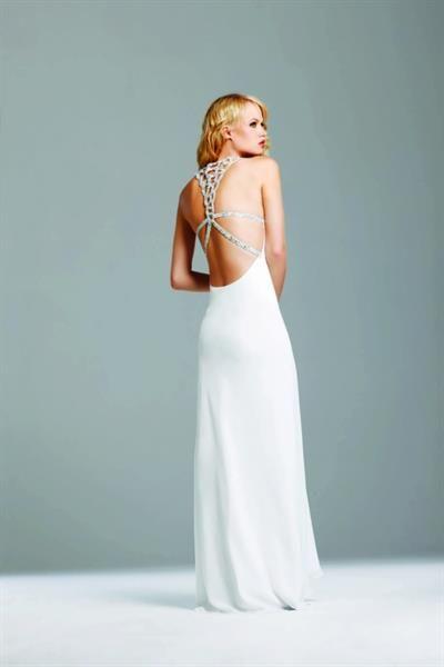 Шифоновое платье с открытой спиной