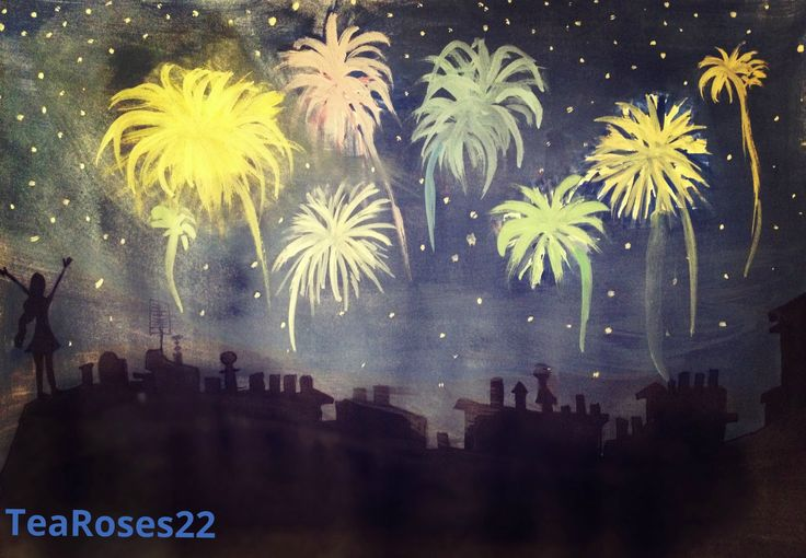 For 20th August - a new painting by me! Have a festive day!