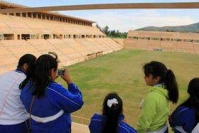 Estudiantes de Primaria de San Jacinto Amilpasvisitan Polideportivo del ITO