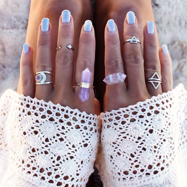 GypsyLovinLight: Double Point Crystal Ring – Amethyst