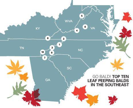 The Top Ten Summits To View The Southern Appalachian Fall Foliage