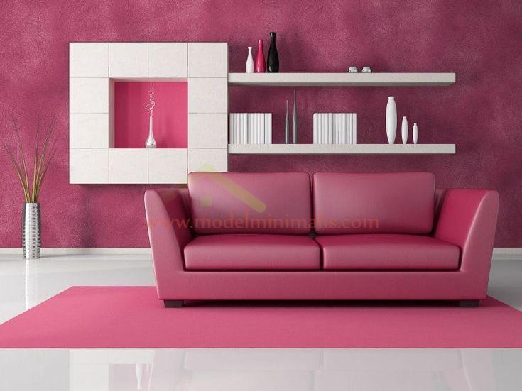 Warna Cat Dinding Rumah Merah Muda | Desain Interior Rumah Warna Pink