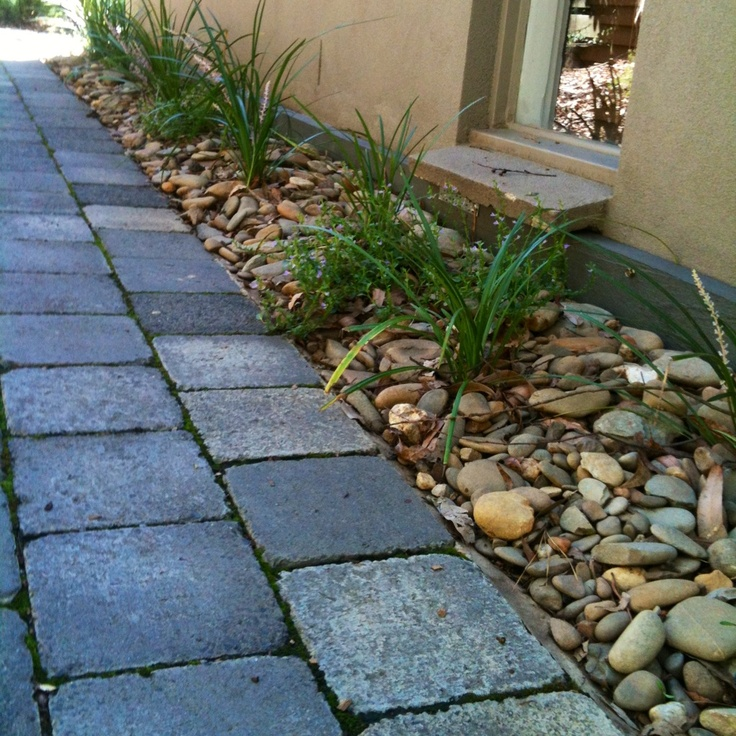 River Pebbles And Cobble Stone Path.. Simple!