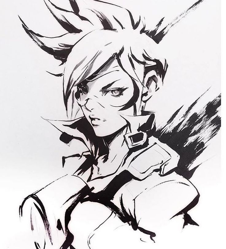 Catchin up on those commissions! #tracer #overwatch #traditional #ink #art #drawing #jimbobox