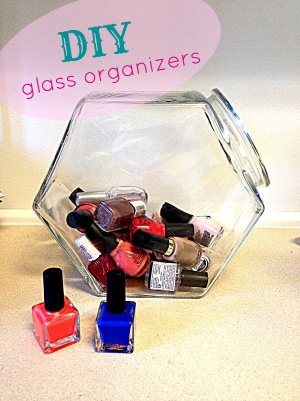 DIY: Glass Organizers